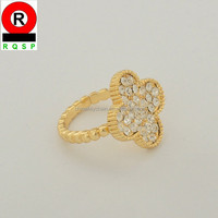 2014 best service World Cup Brazil football fan fashion ring with crystals flower jewelry