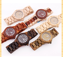 fashion vogue ladies watch liquidation sale/wooden wrist lady watch