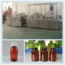 High speed filling and rubbrering machine,bottle solution filling line,syrup filling line for glass bottles