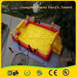 Custom color and design PVC Tarpaulin inflatable football pitch, inflatable soccer field