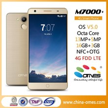 "High Level OEM M7000+ 5.5"" 5.5 inch FHD Octa Core 3GB Ram Android OS 5.0 Lollipop latest 4G LTE smart phone"