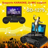12inch karaoke dvd,vcd,svcd,mp4,mp3,divx player factory on sale