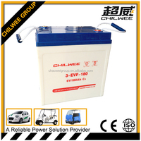 6V180AH sealed lead acid(SLA) rechargeable battery for electric vehicles
