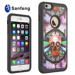 Newest design mobile phone sticker pu skin phone cases for iphone 6 plus 5.5 inch