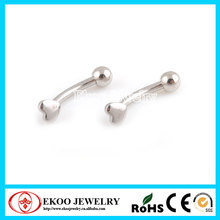 316L Surgical Steel Eyebrow Rings with Heart Eyebrow Piercing