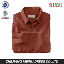2015 new design high quality mens linen shirts