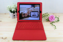 Hottest tablet accessories 3.0 compliant PU leather+silicone bluetooth keyboard case for ipad mini 2/mini