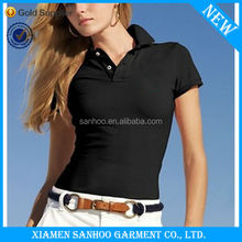 Cheap Wholesale 100% Cotton Tee Shirt Women Polo Breathable New Style