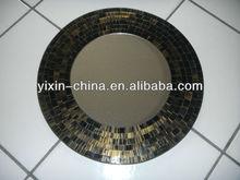 50CM Luxuriant Dark Golden Mosaic Decorative Mirror
