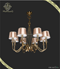 2015 trade assurance suppliers classic hotel lighting 8 lights matte gold fabric shade chandelier