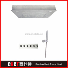 triple functions Brush Surface 304 stainless steel LED kids shower head