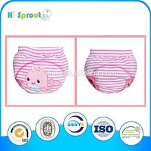 100% algodão roupa do bebê de bebê bordados calças de treinamento conjunto