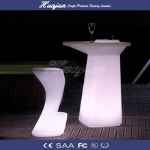 glow bar furniture /cordless waterproof outdoor table
