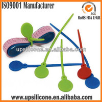 BPA Free silicone food tie wraps for promotion