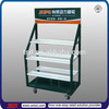 TSD-M869 Custom high quality metal display rack with casters,metal display fixtures,strong metal display shelf