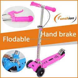 wholesale folding kick scooter mini micro scooter wit hand brake 3 wheels scooter for sale