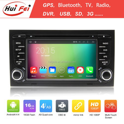 RK3188 Quad-core HuiFei Brand Car Double Din Stereo For Audi A4 With Android 4.4.4 OS Wholesale