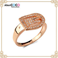 Latest Gold ring with hot photo of imitation gemstone ring in china wholesale