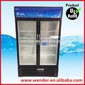 688l refrigerantes comercial vertical usado 2 porta cerveja cooler freezer