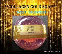 Premium Rose collagen gold facial soap