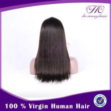 qingdao premier wigs full lace long straight human hair wigs