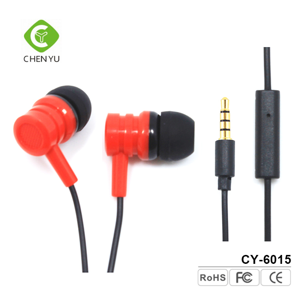 High quality micro earphones white 3.5mm headphones earphone with mic for iphone 7