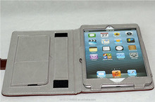 Foldable leather cover leather cover for iPad mini cover