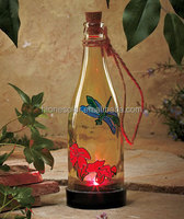 Solar Powered Color-Changing Light Dragonfly Bottle Patio Garden Lantern