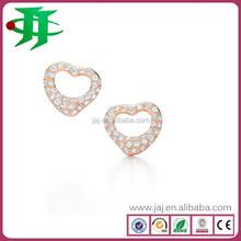 heart shaped stud earrings fashionable jewelry