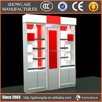 Unique design commercial decorative furniture glass wall salon color cabinet