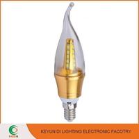 CE,RoHS passed Aluminium & Plastic candle light led IP33 indoor lighting