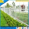 Garden Scallop White Metal Picket Fence