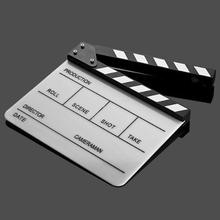Acrylic lucite Clapper board Director TV Film Movie Cut Action Scene Clapper Board