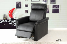 leather okin recliner chair push back hotel project chair A24