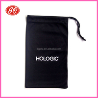 Wholesale custom printed microfiber pouch with drawstring for sunglasses