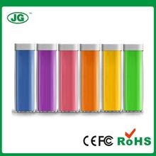 Lipstick style High Capacity 2200mAh power bank CE/FCC/RoHS