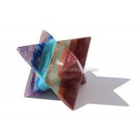 wholesale magic crystal 7 Chakra Merkaba Star for gift