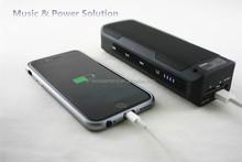 wireless mini bluetooth speaker with 4000mah power bank/TF Card/FM Radio