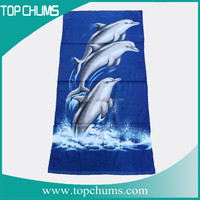 Jumping dolphins 70x140cm cotton greece monogramed beach towel