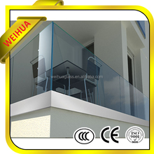 LT 6mm 8mm 10mm 12mm 15mm 19mm tempered glass parapet with CE certification