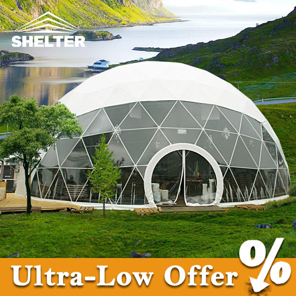 Big geodesic dome tent for commercial for sale export to for Japan dome house price