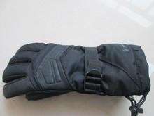 2015 Fashion Men Ski Gloves Pigskin Honeycomb Patchwork Keep Warm Five Finger Mens Gloves