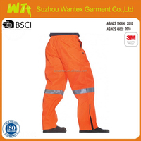 High visibility POLYESTER waterproof running pants with pockets