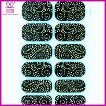DIY hot sale colors bead nail stickers, nail art design