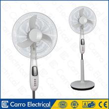 Fashion style 12volt 16inch dc rechargeable stand floor fan silver floor fan