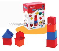 kids round and square plastic stacking cups
