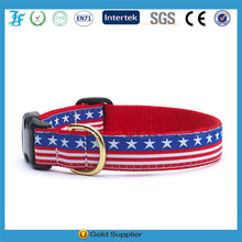 Colorful Nylon dog collar with quick release buckle