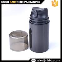 Male stimulating tonic air pump pp airless 50ml black bottle