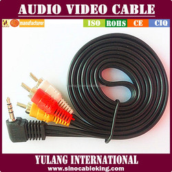 24k Gold Plated 3 Rca To 3 Rca Composite Stereo Audio Video Cable Av Cable For Stb/tv/computer/speaker/amplifier