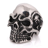 Yiwu Big USA Ring Size Cool Men's Jewelry, Stainless Steel Skull Rings